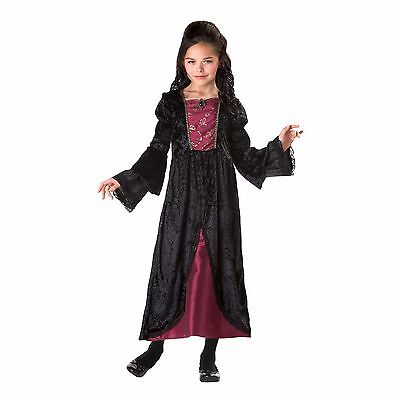 Burgundy Evil Queen Girl's Halloween Costume NEW Size Large Dress & Sleeves