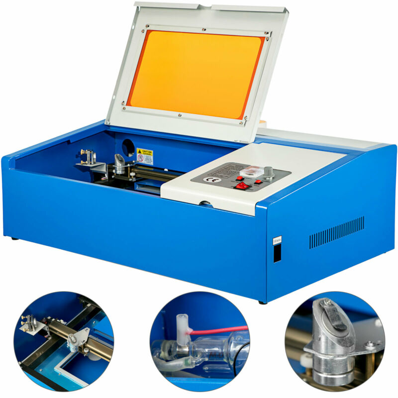 "40W USB Laser Engraver Cutter Engraving Cutting Machine Laser Printer CO2 12*8"""