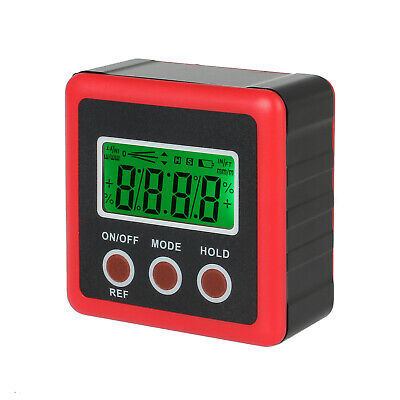 Digital Level Box Electronic Protractor Lcd Display Magnetic Base Waterproof