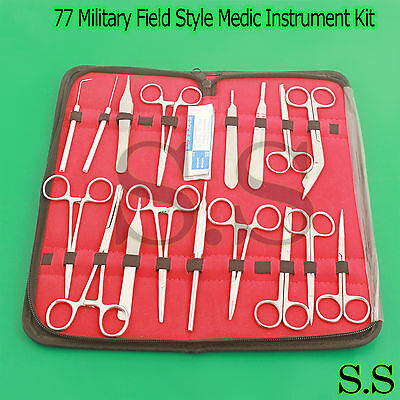 77 O.r Grade Military Field Style Medic Instrument Kit - Medical Surgical Nurse