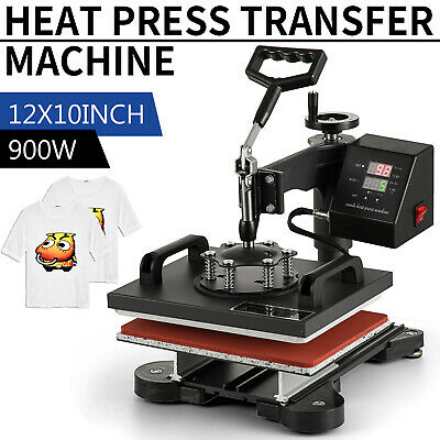 12x10 Swing Away Digital Combo Heat Press Machine Sublimation T-shirt Printing