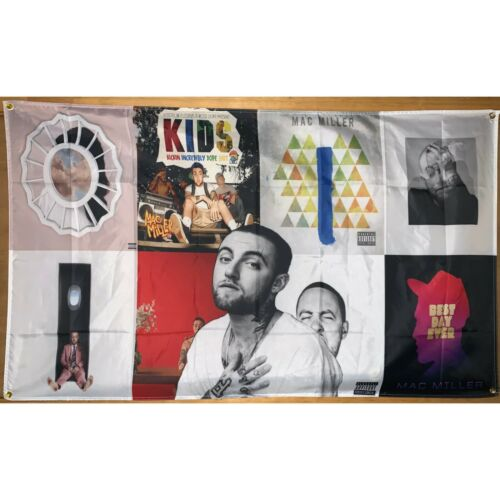 Mac Miller Album Cover Collage Flag Banner Wall Tapestry 3x5