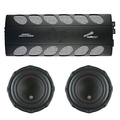 Audiopipe Car Audio Package mit 1800 W Klasse D Mono Amp und 2 12