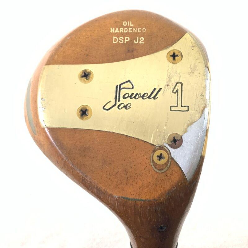 "Vintage Joe Powell DSPJ2 Persimmon Driver 1 Stiff Shaft 43.5"" Scarce"