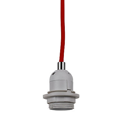 (Trendy Red Braided Cable Ceiling Light Suspension Flex)