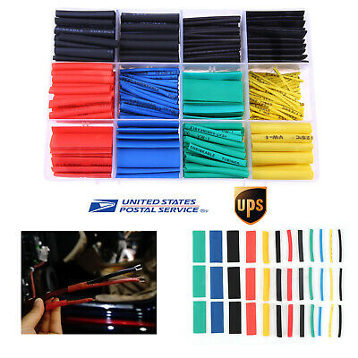 530pcs 21 Heat Shrink Tubing Sleeving Car Electrical Assorted Wrap Cable Wire