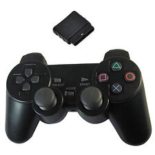 New Black Wireless Shock Game Controller for Sony PS2 Free Shipping