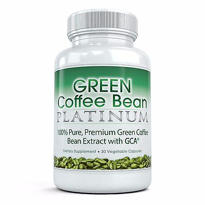 BEST Green Coffee Bean Platinum - Pure, Premium Extract (30 Vegetable