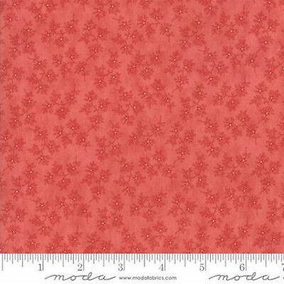 Moda Victoria Floral Beatrice Red - 100% cotton Fabric Patchwork Quilting