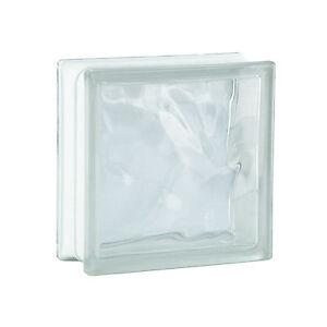 1 Paket (= 6 Stück) Glasbausteine Glassteine WOLKE KLAR 19x19x8cm