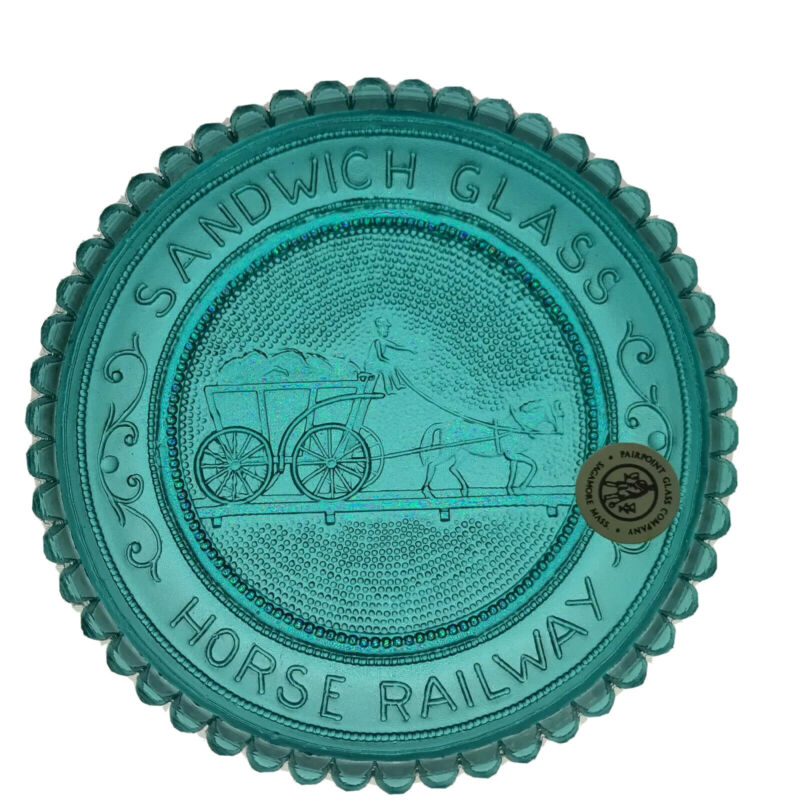 Horse Railway Sandwich MA Glass Museum Historical Series VTG Pairpoint Cup Plate