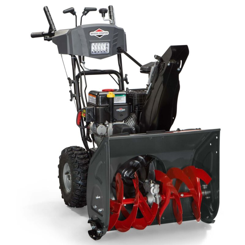 "Briggs & Stratton 24"" 208cc Dual-Stage Electric Start Gas Snow Thrower   1696614"