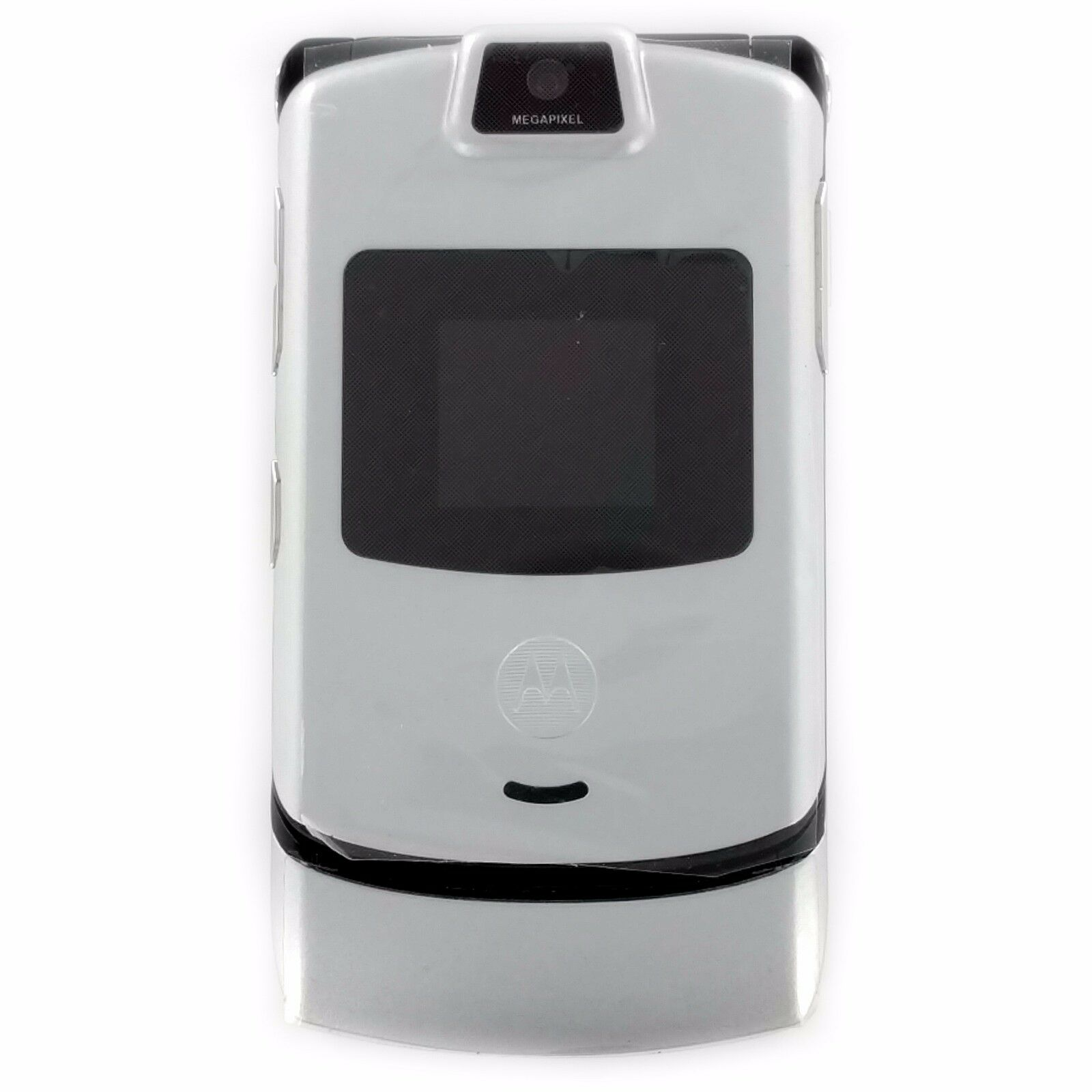 Motorola Razr V3m Silver Verizon Flip Cell Phone Retro T9...