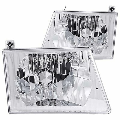 MONACO DIPLOMAT 1998 1999 2000 DIAMOND HEADLIGHTS HEAD LAMPS LIGHT PAIR RV