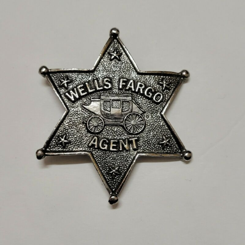Vintage Wells Fargo Stage Coach Agent Star Badge / Promo Pin