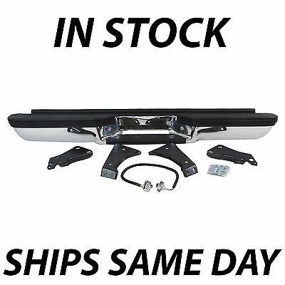NEW- Complete Rear Bumper for 1988-2000 Chevy Silverado GMC Sierra C/K 1500 2500 ()