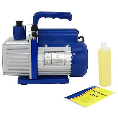 5CFM Rotary Vane Deep Vacuum Pump 1/3HP AC Air Tool R410a R134 HVAC Refrigerant