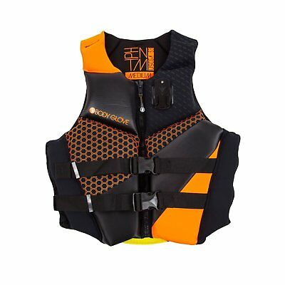 Body Glove Phantom Orange Neoprene Men & Women's Adult Life Jacket Vest, Medium