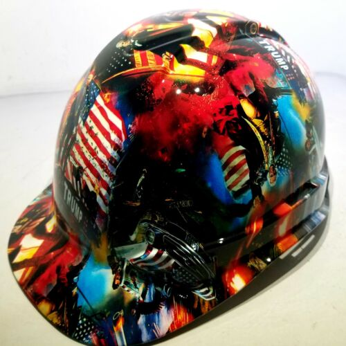 Hard Hat Cap style Custom hydro dipped DONALD TRUMP MAGA FACTORY APPROVED NEW 2