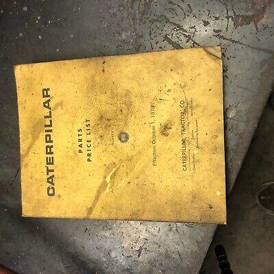 Cat Caterpillar E Price Parts List Book Original Antique 1979