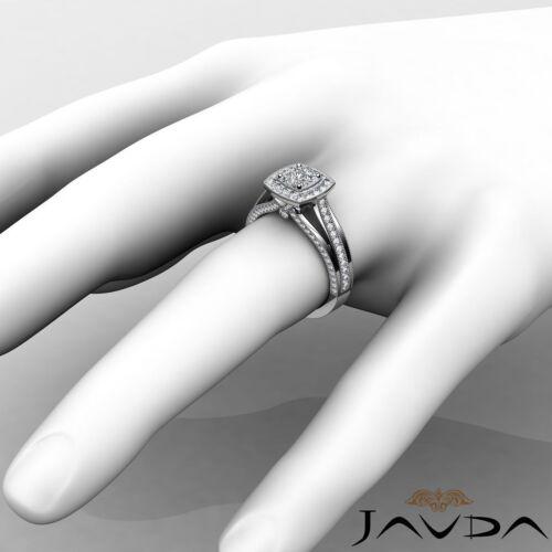 Cushion Cut Diamond Engagement Halo Pave Set Ring GIA G VS1 18k White Gold 1.4Ct 2