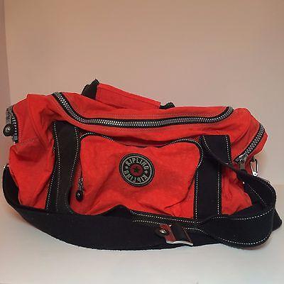 Large Orange Kipling Carry On Luggage / Sports Bag