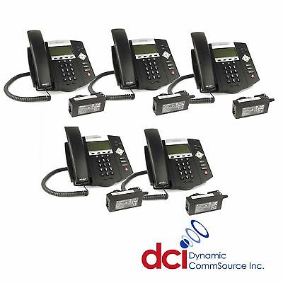 Refurbished 5 Pack Of Polycom Soundpoint Ip 450 Telephones Wpower Free Ship