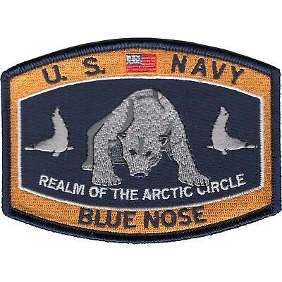 US NAVY  Polar Bear Blue Nose MILITARY MORALE JACKET HAT PATCH
