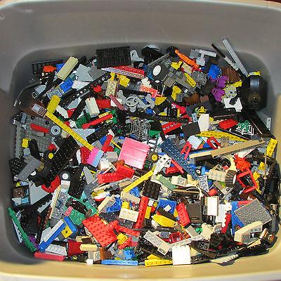 Lego by the pound Lot bricks pieces & part bricks tile BONUS 1 mini-figs 100%