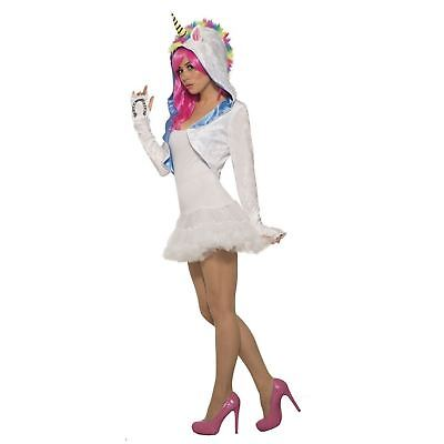 Women's Rainbow Unicorn Hood Long Sleeve Shrug Halloween Rave Costume Accessory](Rave Costumes For Women)