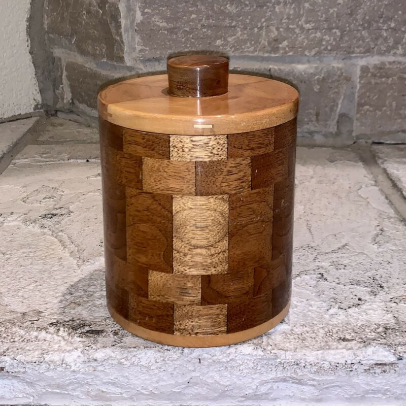 E.B. For Dunhill Handmade 1/1 Burl Wood Checkerboard Humidor Pipe Holder Box EB