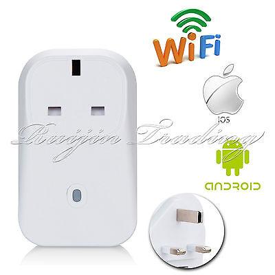 Wireless 2/3G/4G/WiFi Smart Timer APP Remote Control Power Switch UK Plug Socket