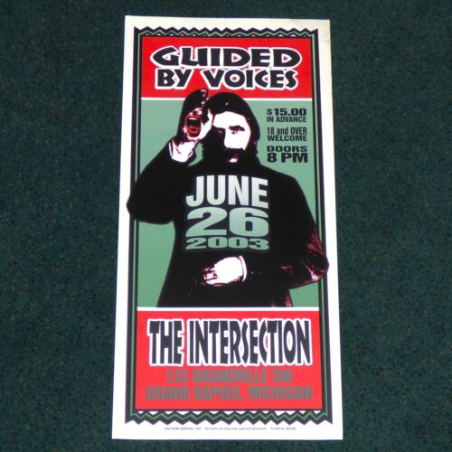GUIDED BY VOICES THE INTERSECTION GRAND RAPIDS 2003 ORIGINAL CONCERT POSTER