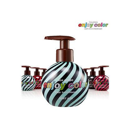 Enjoy Color Hair Color Treatment Mint Ash 150ml 3 mins Coloring Shining K-Beauty