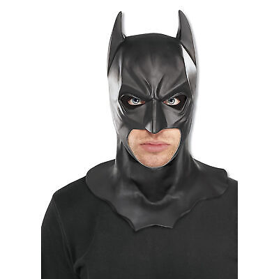 Batman Dark Knight Gummi Voller Kopf Maske Offiziell Erwachsene Halloween - Voll Batman Kostüm