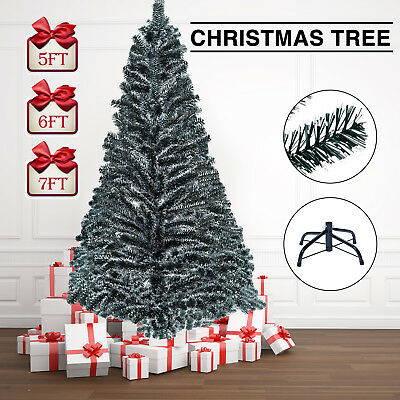 Christmas Holiday Christmas Tree - Artificial Christmas Tree Pine Xmas Tree Holiday Decoration Black Tips White End