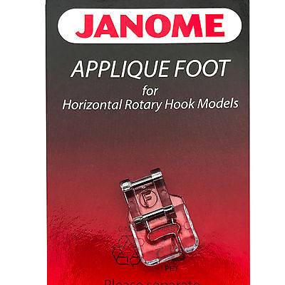 Applique Foot  For #202023001 Janome Horizontal Rotary Hook Models