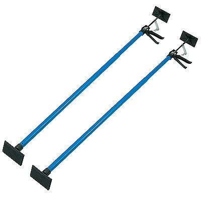 2 x Drywall Plasterboard Builders Adjustable Easy Props Silverline