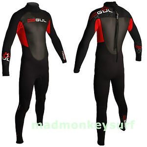 GUL MENS RESPONSE FULL 3/2 MM WETSUIT bodyboarding kayaking sailing diving