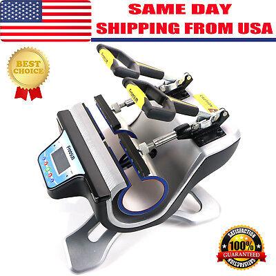 Us Freesub Automatic Double Mug Heat Press St-210 Sublimation Transfer Printing