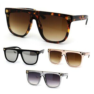 Mens Metal Flat Top Trim Luxury Mafia Mob Sunglasses