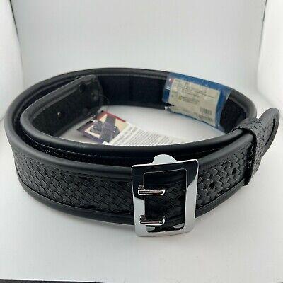 Bianchi 7965 Sam Browne Duty Belt Basketweave W Chrome Buckle 40 - 42