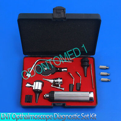 New Otoscope   Ophthalmoscope Set Ent Medical Diagnostic Surgical Instrument 3Bl