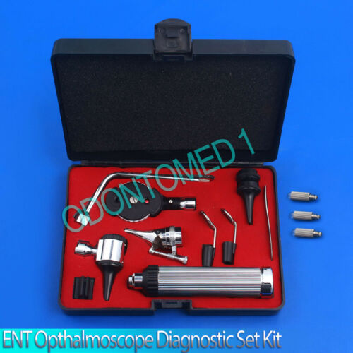 NEW Otoscope & Ophthalmoscope Set ENT Medical Diagnostic Surgical Instrument+3BL