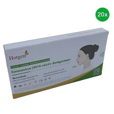 Hotgen 20erPack Coronavirus Laien Antigen Test Corona Schnelltest Nasal Abstrich