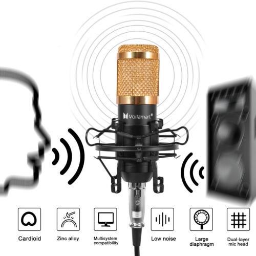 BM800 Condenser Microphone Kit Studio Audio Pop Filter Arm Stand Shock Mount