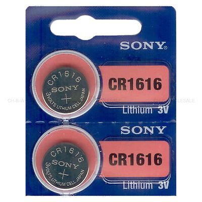 2 NEW SONY CR1616 3V Lithium Coin Battery Expire 2028 FRESHLY NEW - USA Seller