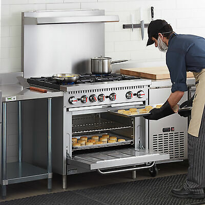 36 Liquid Propane Commercial Kitchen 6 Burner Range With Standard Oven