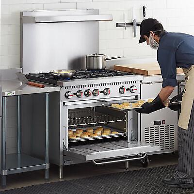 36 Natural Gas Commercial Kitchen 6 Burner Range With Standard Oven