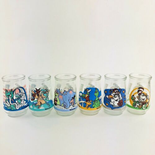 Complete Set of 6 Welchs Jelly Jars - The Wubbulous World Of Dr. Seuss